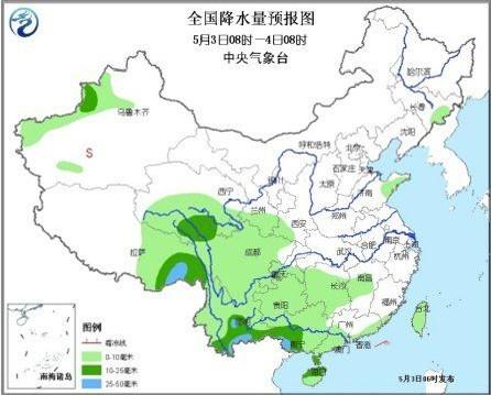 未来三天西南华南等地有中到大雨 四川灾区多阴雨天气
