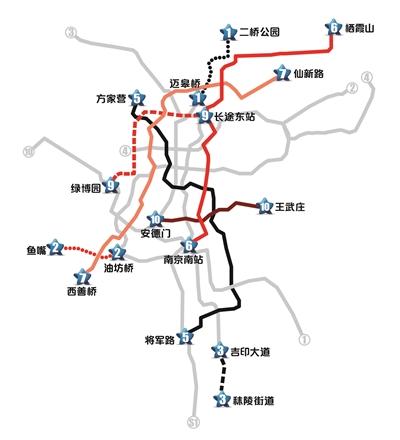 八条南京地铁线路走向及站点介绍