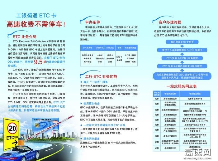 四川ETC卡工商银行办理点